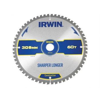 IRWIN Construction Circular Saw Blade 305 x 30mm x 60T ATB/Neg M