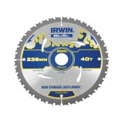 IRWIN Weldtec Circular Saw Blade 235 x 30mm x 40T ATB