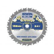 IRWIN Weldtec Cordless Circular Saw Blade 136 x 10mm x 24T ATB C