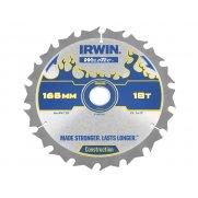 IRWIN Weldtec Cordless Circular Saw Blade 165 x 20mm x 18T ATB C