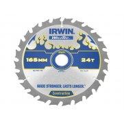 IRWIN Weldtec Cordless Circular Saw Blade 165 x 20mm x 24T ATB C