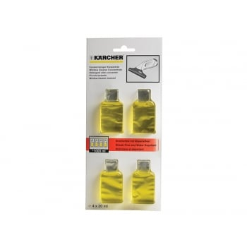 Karcher Glass Cleaning Sachets (4x20ml)