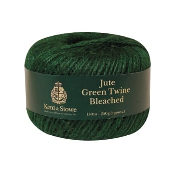 Kent & Stowe Jute Twine Bleached Green 150m (250g) Model No. 70100825