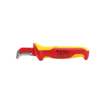 Knipex 155mm Fully Insulated Cable Dismantling Knife : Model No.98 55