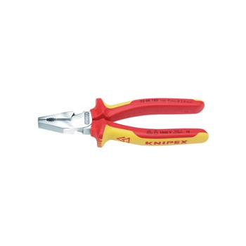 Knipex 180mm Fully Insulated High Leverage Combination Pliers : Model No.02 06 180