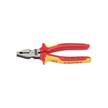 Knipex 180mm Fully InsulatedHigh Leverage Combination Pliers : Model No.02 08 180UKSBE