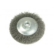 Lessmann Conical Knot Brush 100mm M14 x 0.35 Steel Wire