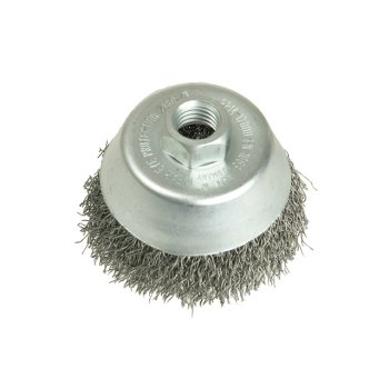 Lessmann Cup Brush 75mm M14 x 0.35 Steel Wire
