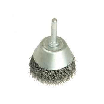 Lessmann Cup Brush with Shank D70mm x 25h x 0.30 Steel Wire