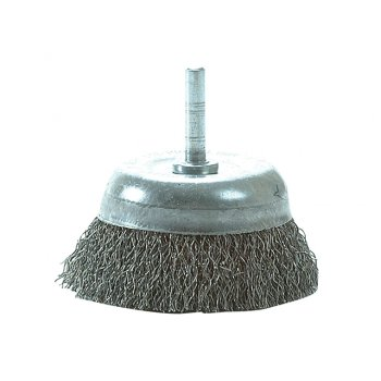 Lessmann DIY Steel Wire Cup Brush 75mm x 0.35 Wire