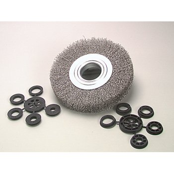 Lessmann Wheel Brush D200mm x w25-27 x 50 Bore Steel Wire 0.30