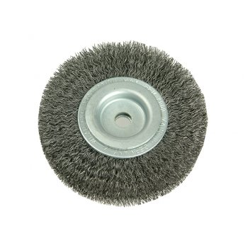 Lessmann Wheel Brush D200mm x W40-45 x 80 Bore Set 4 +1 Steel Wire 0.30