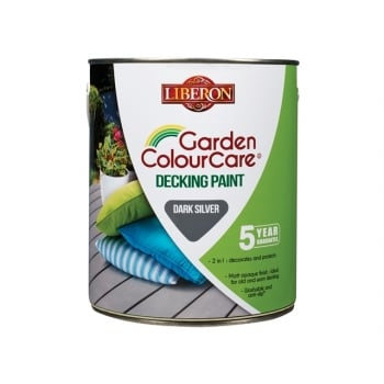 Liberon Decking Paint Dark Silver 2.5 Litre Model No. 110110