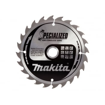 Makita B-09173 Circular Saw Blade 165 x 20mm x 24T Cordless Wood