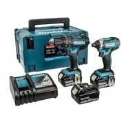 Makita DLX2131JX1 Twin Pack 18 Volt 3 x 3.0Ah Li-Ion