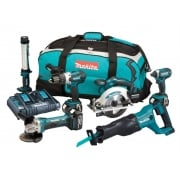 Makita DLX6044PT LXT 6 Piece Kit 18 Volt 3 x 5.0Ah Li-Ion