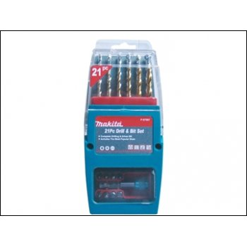 Makita P-57087 Titanium Coated Drill & Driver Set 21 Piece