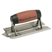 Marshalltown M180D Groover Trowel Stainless Steel Durasoft Handle 6 x 3in