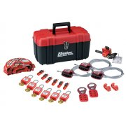 Master Lock Lockout Toolbox 23 Piece Kit - Valve & Electrical