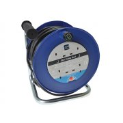 Masterplug Heavy-Duty Cable Reel 30 Metre 4 Socket 13A Thermal Cut-Out 240 Volt
