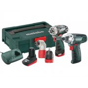 Metabo PowerMaxx BS Quick +SSD Combo Set 10.8 Volt 1 x 2.0Ah, 1 x 4.0Ah Li-Ion