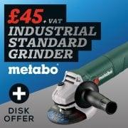 Metabo W750-115 115mm Mini Grinder 750 Watt 110 Volt