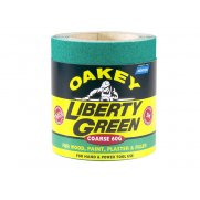 Oakey Liberty Green Roll 115mm x 5m Coarse 40g