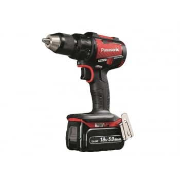 Panasonic EY79A2LJ2G31 Brushless Red Carbon Combi Drill 18 Volt 2 x 5.0Ah Li-Ion