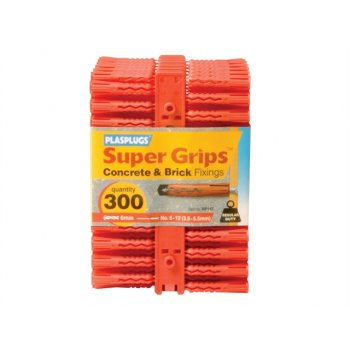 Plasplugs RP 187 Solid Wall Super Grips? Fixings Red (300)