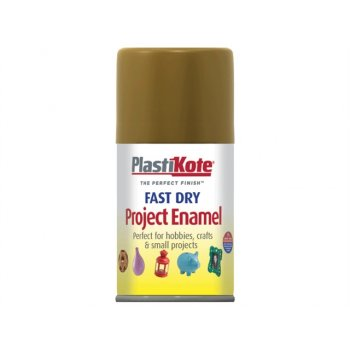 Plasti-kote Fast Dry Enamel Aerosol Antique Gold 100ml