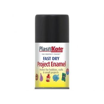 Plasti-kote Fast Dry Enamel Aerosol Black Gloss 100ml