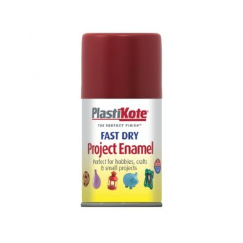 Plasti-kote Fast Dry Enamel Aerosol Red Metallic 100ml