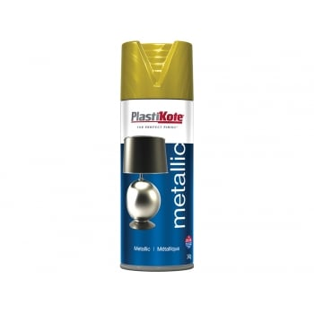 Plasti-kote Metallic Spray Brass 400ml
