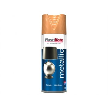 Plasti-kote Metallic Spray Flat Copper 400ml