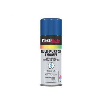 Plasti-kote Multi Purpose Enamel Spray Paint Gloss Blue 400ml