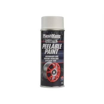 Plasti-kote Peelable Paint White Matt 400ml