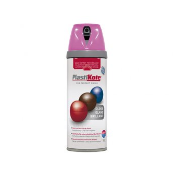 Plasti-kote Twist & Spray Gloss Pink Burst 400ml