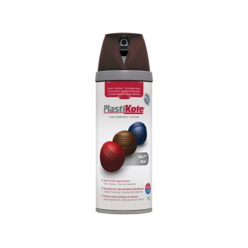 Plasti-kote Twist & Spray Matt Chocolate 400ml