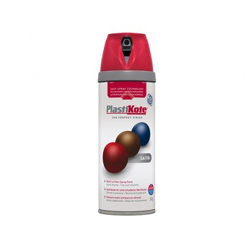 Plasti-kote Twist & Spray Satin Real Red 400ml