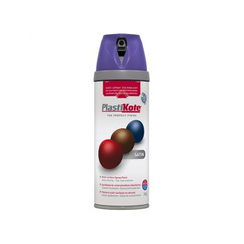 Plasti-kote Twist & Spray Satin Sumptuous Purple 400ml