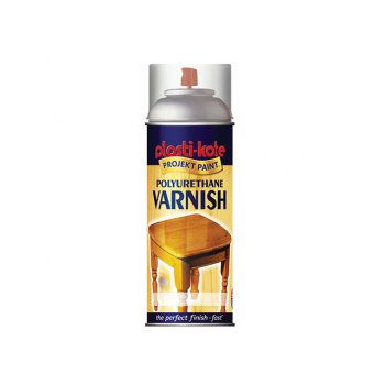 Plasti-kote Varnish Spray Clear Satin 400ml