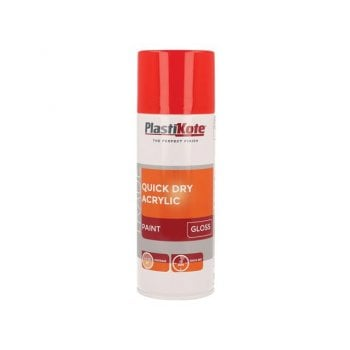 PlastiKote Trade Quick Dry Acrylic Spray Paint Gloss Red 400ml