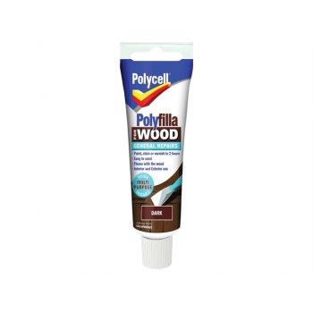 Polycell Polyfilla For Wood General Repairs Tube Dark 330g