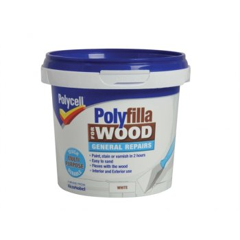 Polycell Polyfilla for Wood General Repairs White Tub 380g