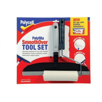 Polycell SmoothOver Tool Set Roller & Spreader