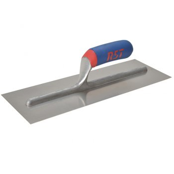 R.S.T. Plasterers Finishing Trowel Stainless Steel Softgrip Handle 11in x 4.1/2 in