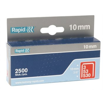 Rapid 53/10B 10mm Galvanised Staples Box 2500