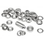 Grommets 10 x 21mm (25) + Metal Anvil & Hammer