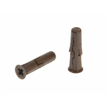 Rawlplug Brown Uno Plugs Card of 96 7mm x 30mm