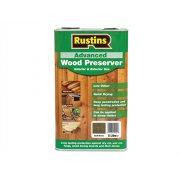 Rustins Advanced Wood Preserver Dark Brown 5 Litre